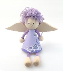 Anjel drevený (ADZ008) - fialový