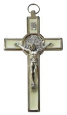 Kríž: kovový, Benediktínsky - fosforový (599N)