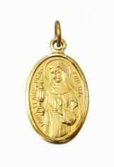 Medailón: sv. Klára (MEZ005z)