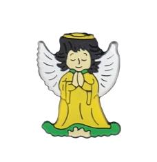 Magnetka: Anjel žltý, gumená (KC043B)