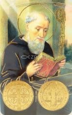 Kartička: sv. Benedikt (RCC 180 SK) - Modlitba kríž sv. Benedikta, plastová