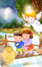 Kartička: Anjel strážny (RCC 179 SK) - s modlitbou, plastová