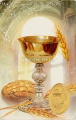 Kartička: kalich (RCC 153 SK) - s modlitbou, plastová