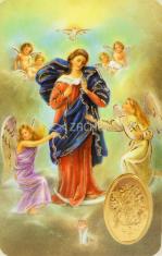 Kartička: Panna Mária Rozväzovačka uzlov (RCC 094 SK) - s modlitbou, plastová