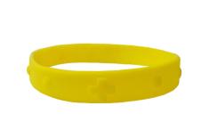 Náramok: desiatok, gumený - žltý (2106-2)