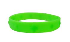 Náramok: desiatok, gumený - zelený (2106-2)
