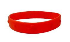 Náramok: desiatok, gumený - červený (2106-2)