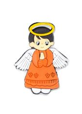 Magnetka: Anjel oranžový, gumená (KC041B)