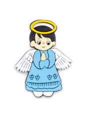 Magnetka: Anjel modrý, gumená (KC041B)