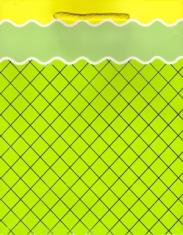 Darčeková taška: mriežka - zelená (TOR-0893)