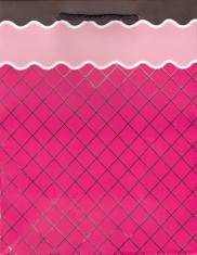 Darčeková taška: mriežka - ružová (TOR-0893)