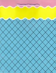 Darčeková taška: mriežka - modrá (TOR-0893)