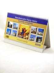 Kalendár: katolícky, stolový - 2019, Nanebovzatie Panny Márie - Nanebovzatie Panny Márie - kostoly a kaplnky