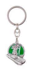 Kľúčenka: sv. Krištof - zelená, kovová (K3027)