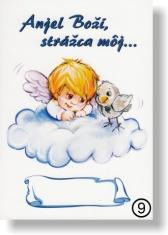 Obrázok: Anjel Boží, strážca môj...(9) - na dreve