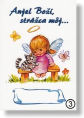 Obrázok: Anjel Boží, strážca môj...(3) - na dreve