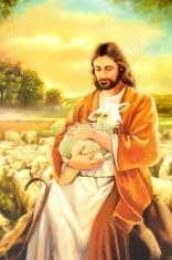 Obrázok: Dobrý pastier, Prosba o ochranu (Z011) - s modlitbou, laminovaný