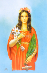 Obrázok: Sv. Filoména, s modlitbou ruženca (Z010) - laminovaný