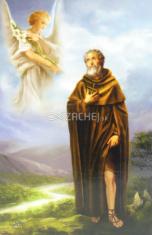 Obrázok: Sv. Peregrín, Modlitba pre trpiacich na rakovinu (Z009) - s modlitbou, laminovaný