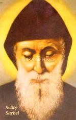 Obrázok: Sv. Charbel (417/242) - s modlitbou, laminovaný