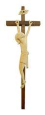 Kríž: drevený, štylka - tmavý (KDZ004)