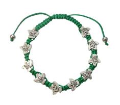 Náramok: desiatok, šnúrkový - zelený (BC1514)