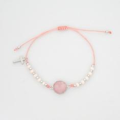 Náramok: desiatok - ružový (BD016)