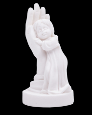 Dievča v dlani - alabaster (931)