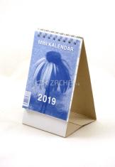 Mini kalendár: stolový, modrý - 2019 (NEO)
