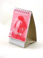 Mini kalendár: stolový, červený - 2019 (NEO)