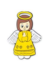 Magnetka: Anjel žltý, gumená (KC040B)