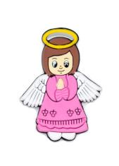 Magnetka: Anjel - ružový, gumená  (KC040B)