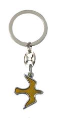 Kľúčenka: HOLUBICA - žltá, kovová (KP039)