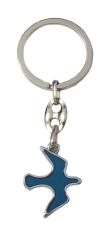 Kľúčenka: HOLUBICA - modrá, kovová (KP039)