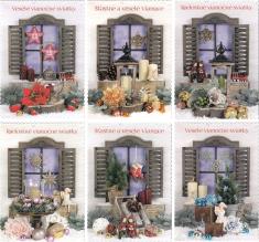 Pohľadnica: vianočná (STIVA séria 9113) - s textom