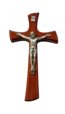 Kríž: drevený - bordový (KVZ014)