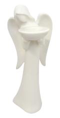 Anjel hlinený - 38 cm (221014) - na čajovú sviečku