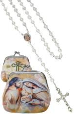 Ruženec: Svätá rodina - biely (1071-D E306) - s púzdrom