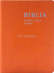 Biblia: Starý a Nový zákon (vrecková, oranžová)