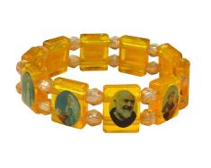 Náramok: Svätí, plastový - oranžový (NIZ002)