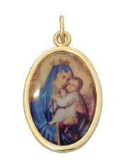 Medailón: Panna Mária Škapuliarska (MEZ001,zl)