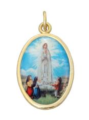 Medailón: Panna Mária Fatimská (MEZ001,zl)