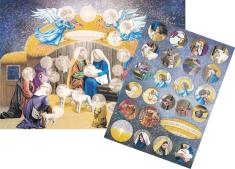Obrázok Betlehem A4 + samolepky - Adventný kalendár