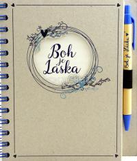 Zápisník s perom - Boh je Láska