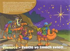 Omaľovanka: Vianoce - Svetlo vo tmách svieti...