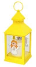 Lampáš: plastový svietiaci - žltý