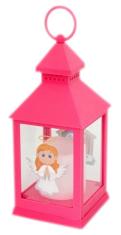 Lampáš: plastový svietiaci - ružový