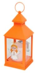 Lampáš: plastový svietiaci - oranžový