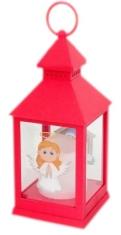 Lampáš: plastový svietiaci - červený