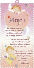 Obrázok na dreve: Anjel, s modlitbou (2017-5)
